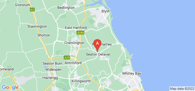 Google static map for Whitley Bay