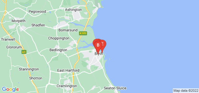 Google static map for Blyth