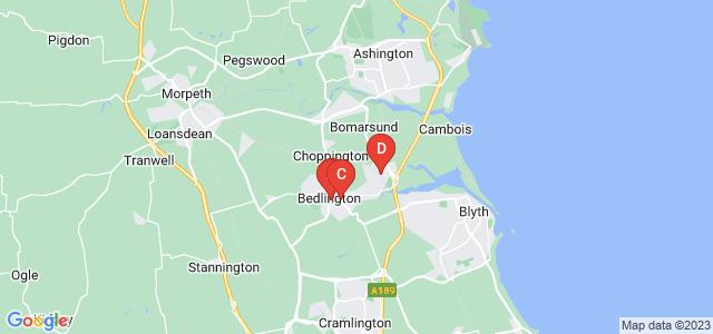 Google static map for Bedlington