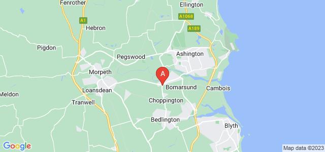 Google static map for Choppington