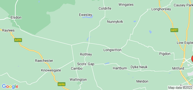 Google static map for Northumberland