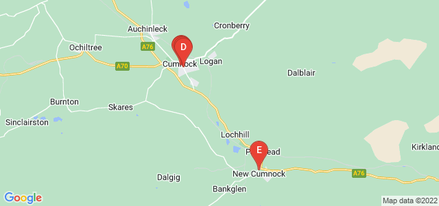 Google static map for Cumnock