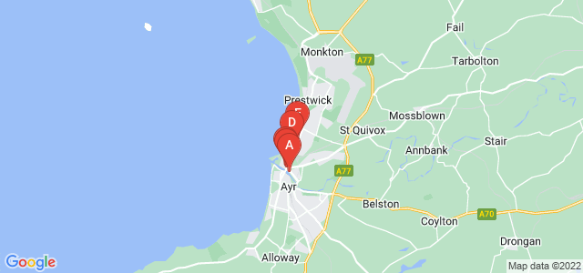 Google static map for Ayr