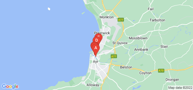 Google static map for South Ayrshire
