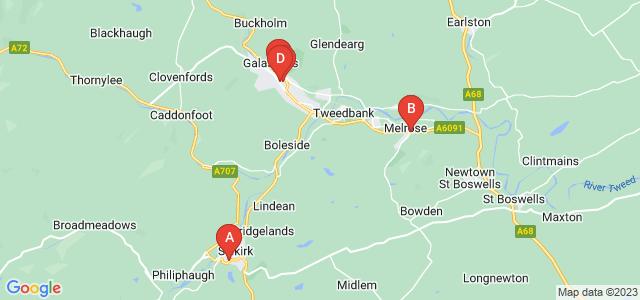 Google static map for Scottish Borders