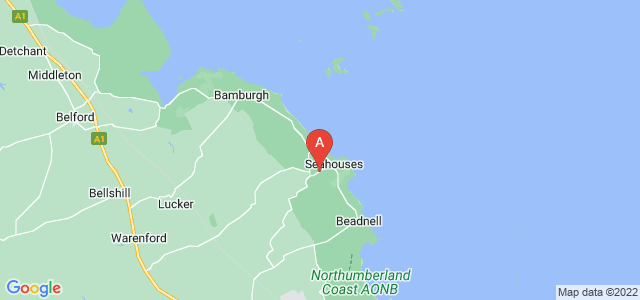 Google static map for Seahouses