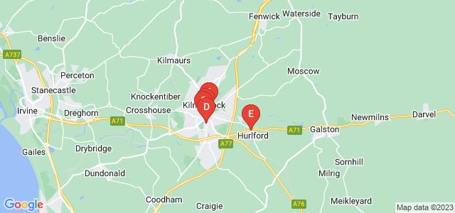 Google static map for Kilmarnock