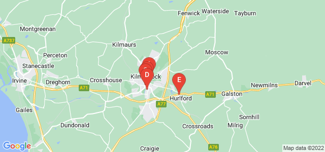 Google static map for Kilmarnock