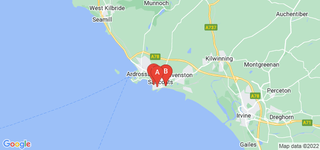 Google static map for Saltcoats