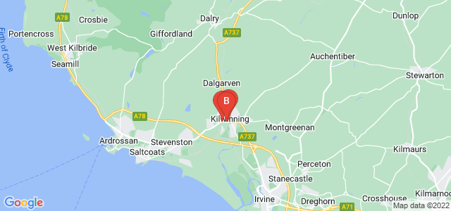 Google static map for Kilwinning