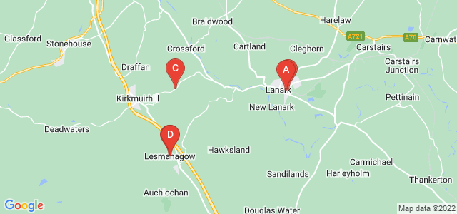 Google static map for Lanark