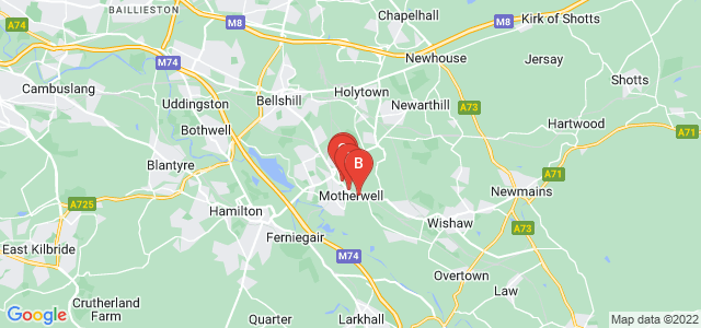 Google static map for Motherwell