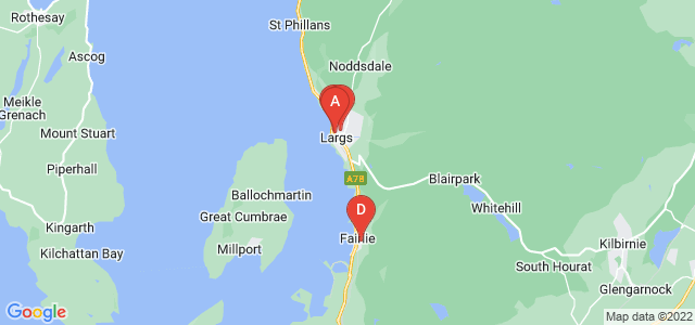 Google static map for Largs
