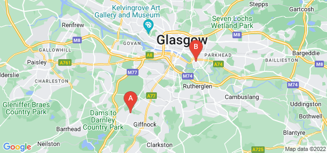 Google static map for Thornliebank