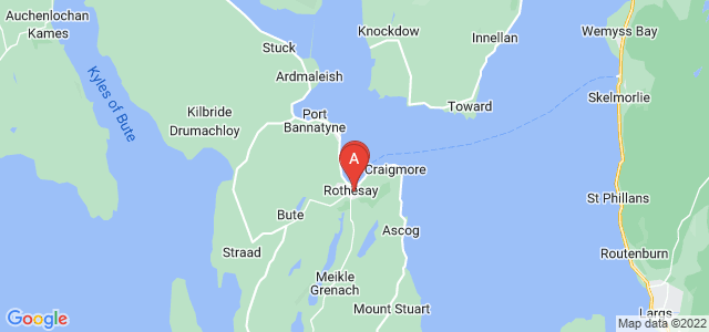 Google static map for Isle Of Bute