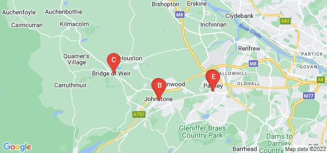 Google static map for Renfrewshire