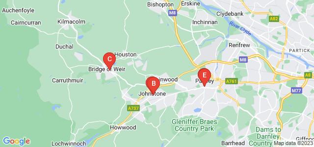 Google static map for Renfrewshire
