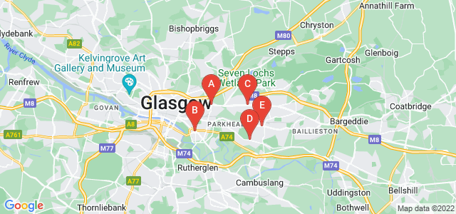Google static map for East End