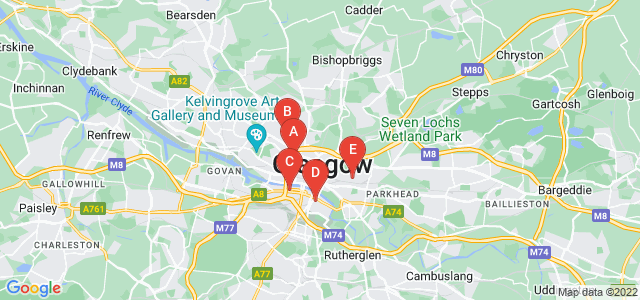 Google static map for Glasgow