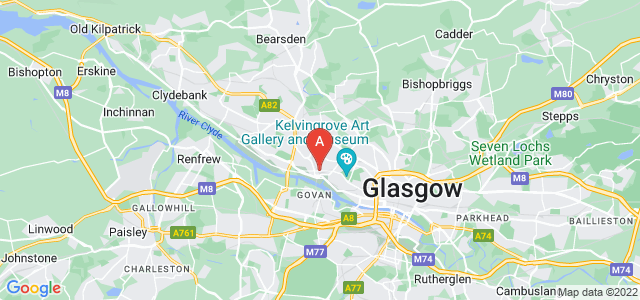 Google static map for Partick