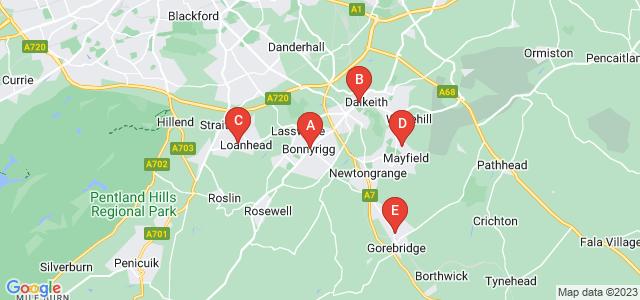 Google static map for Midlothian