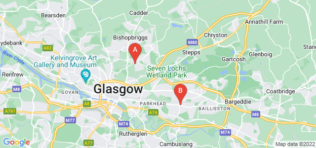 Google static map for Strathclyde