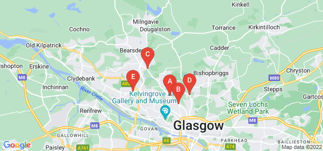 Google static map for North Glasgow
