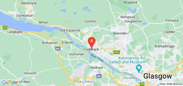 Google static map for Dunbartonshire