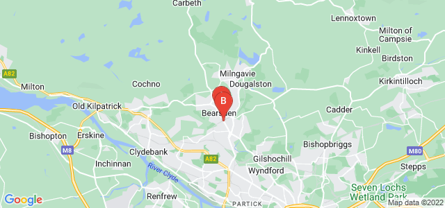 Google static map for Bearsden