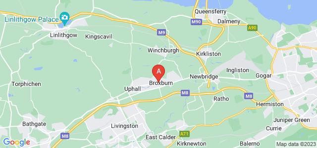 Google static map for Broxburn