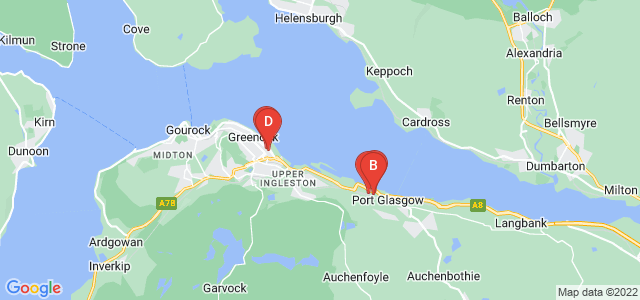 Google static map for Inverclyde