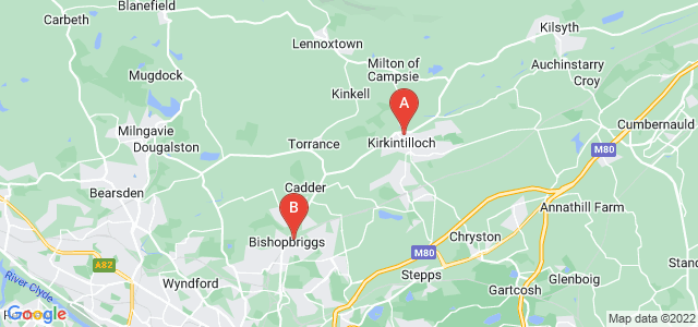 Google static map for East Dunbartonshire