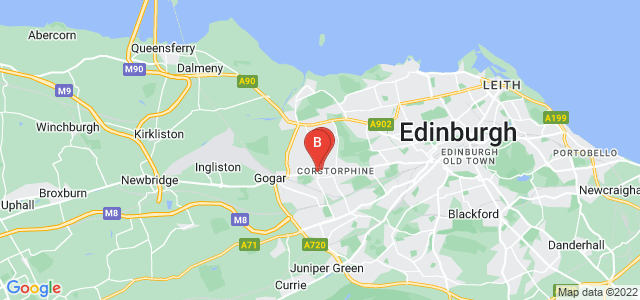 Google static map for Corstorphine