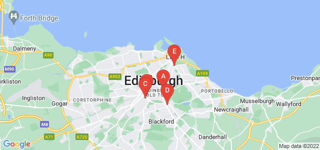 Google static map for Edinburgh