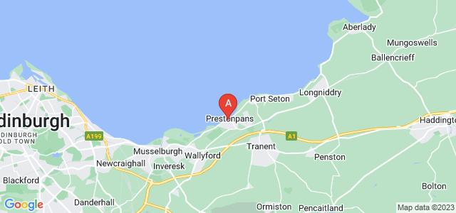 Google static map for Prestonpans