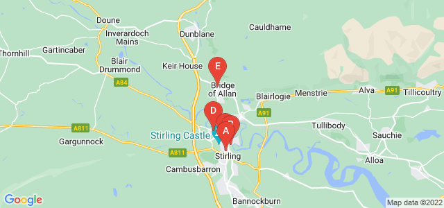 Google static map for Stirling