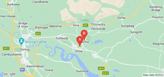 Google static map for Clackmannanshire