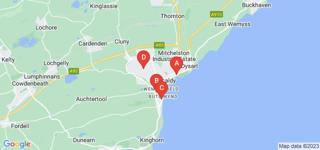 Google static map for Kirkcaldy