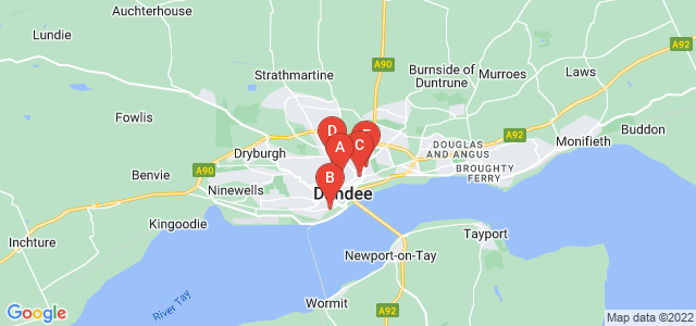 Google static map for Dundee City