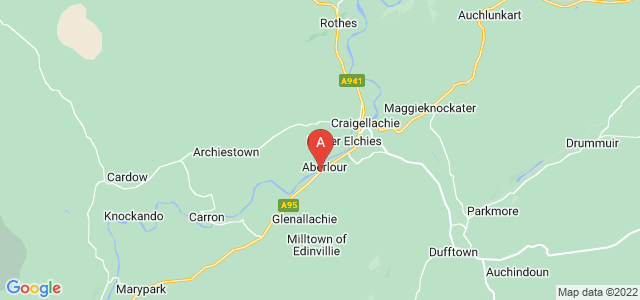 Google static map for Aberlour