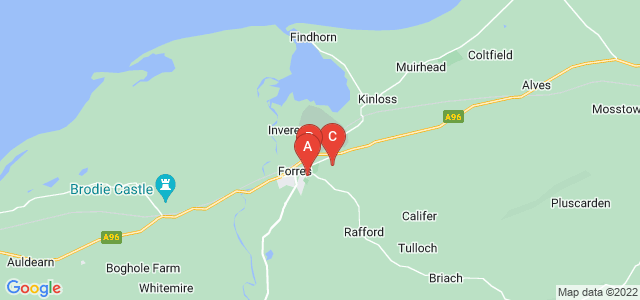 Google static map for Forres