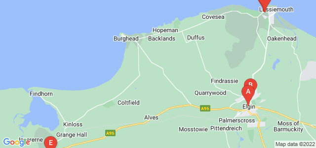 Google static map for Moray
