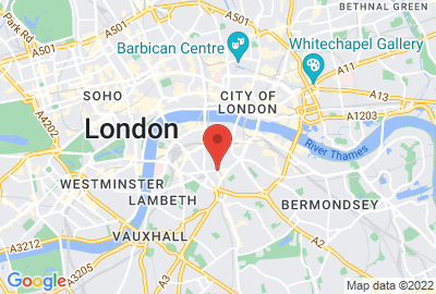 Map showing location of London office