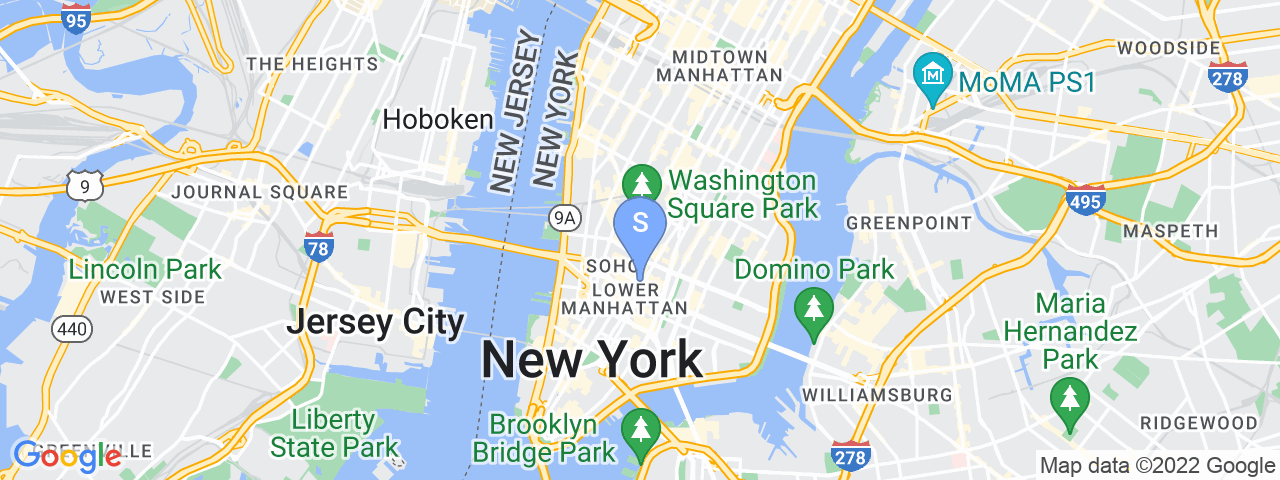 Map Location for Meet in Place - SoHo, NYC