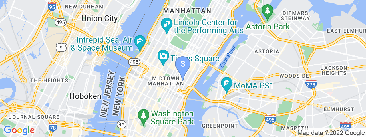 Map Location for Meet in Place - Midtown, NYC