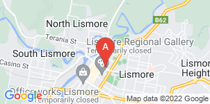 Google static map for Lismore Funeral Services