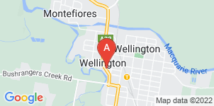 Google static map for Wellington Funeral Home