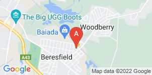 Google static map for Beresfield Funerals