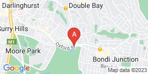 Google static map for Sydney Chevra Kadisha