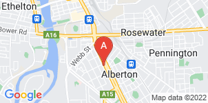 Google static map for Harrison Funerals